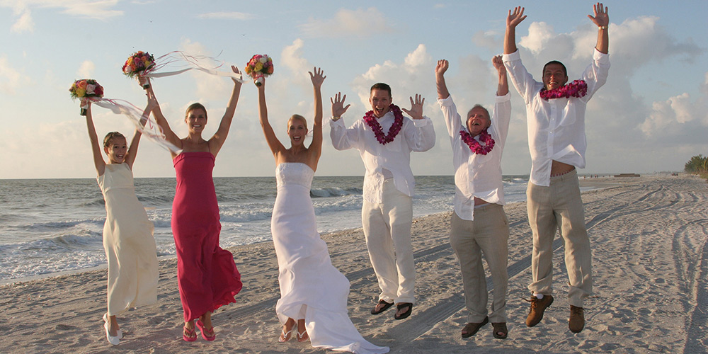 Florida Beach Wedding Party