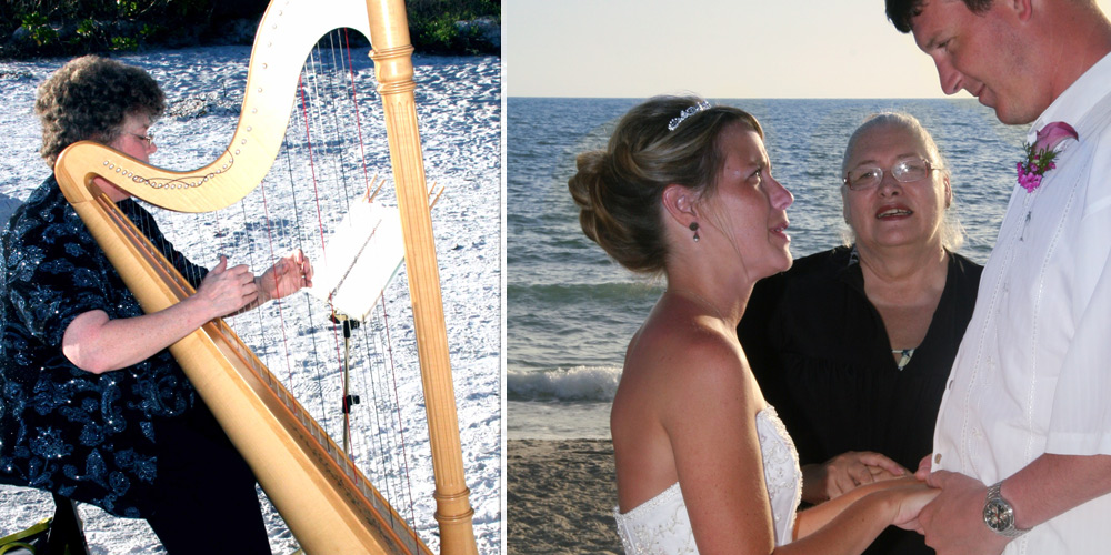Harp and Wedding Ceremony
