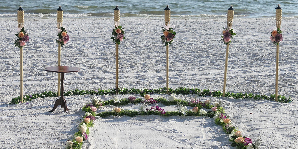 Florida Beach Wedding Ceremony Set