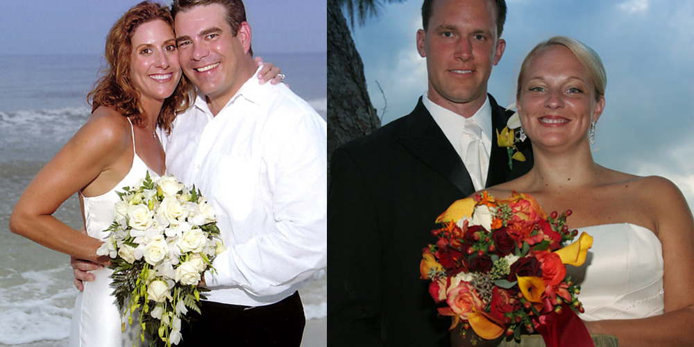 Wedding Couples with Bridal Bouquet
