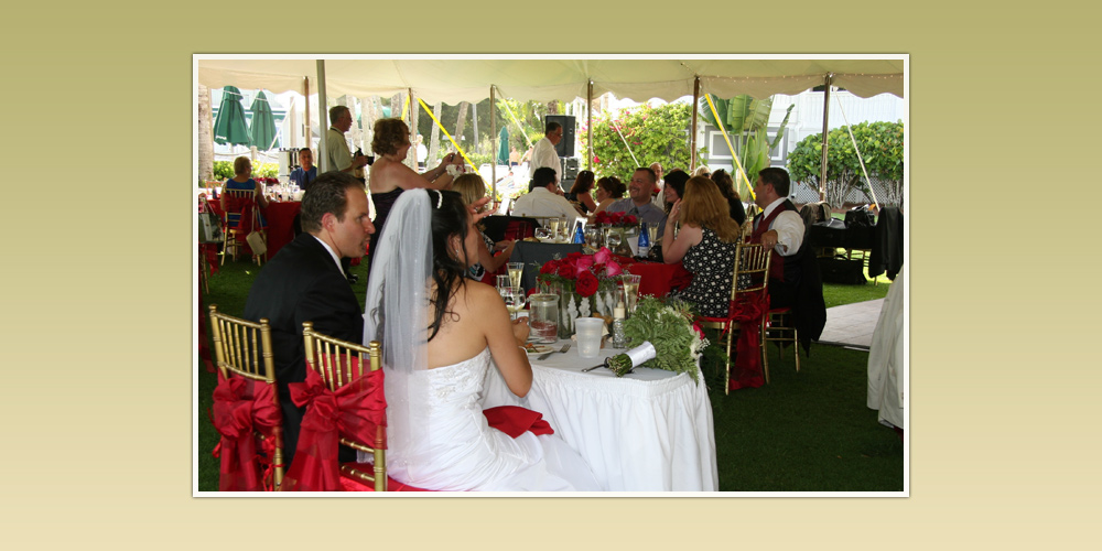 Florida Wedding Reception under Tent