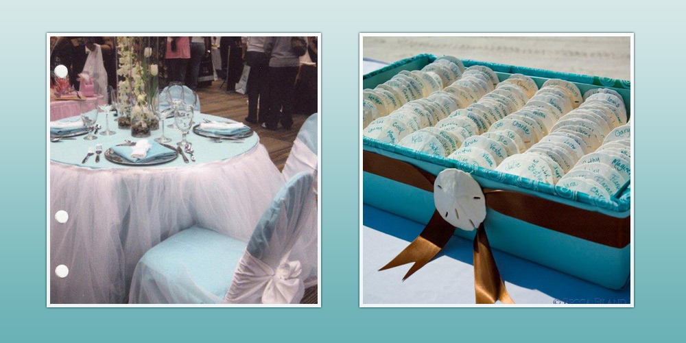 Table and Chair Covers and Favors