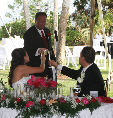 Toast at Florida Wedding Reception